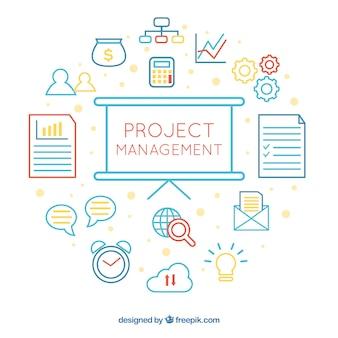 Weißes projektmanagementkonzept