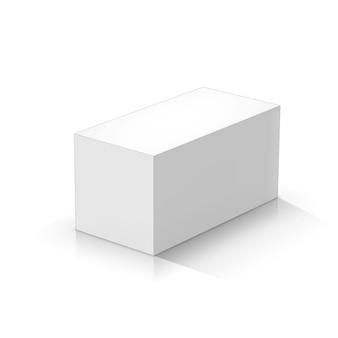 Weißes rechteckiges prisma