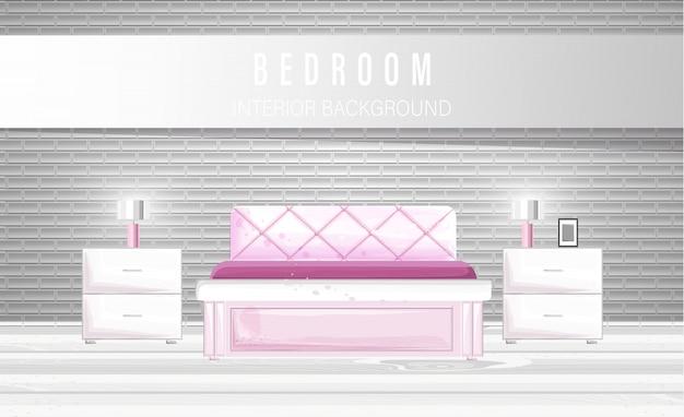 Weißes schlafzimmer interieur