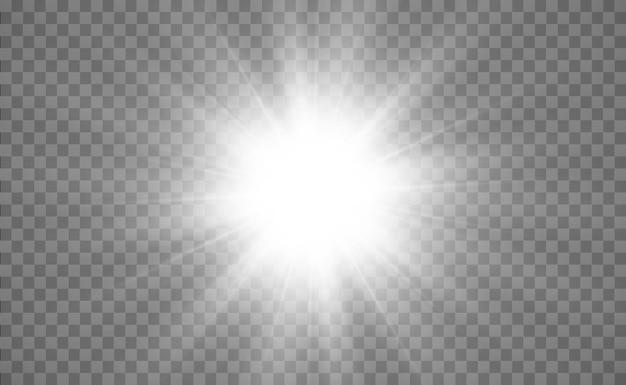 Weißes schönes licht explodiert mit einer transparenten explosion helle vektorgrafik für perfekt