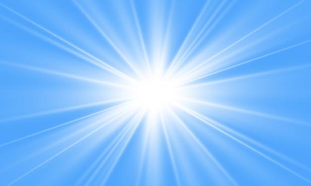 Weißes schönes licht explodiert mit einer transparenten explosion. vektor, helle illustration für perfekten effekt mit funkeln. heller stern. transparenter glanz des glanzgradienten, heller blitz.