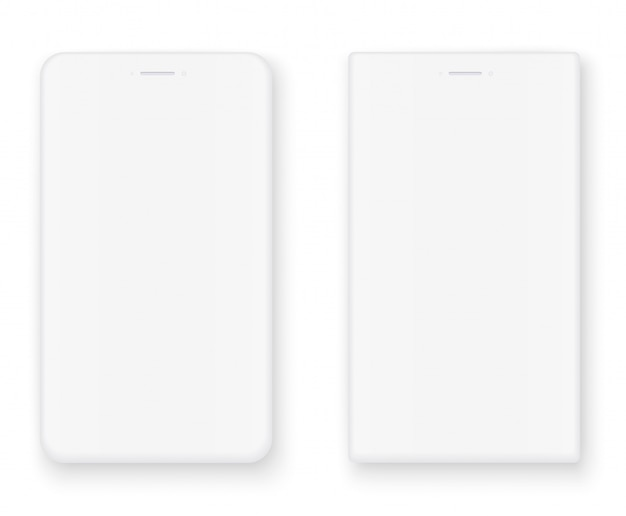Weißes smartphone-set
