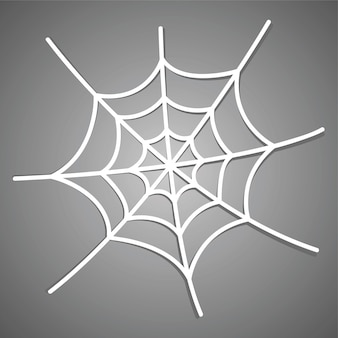 Weißes spinnennetz-symbol mit schatten