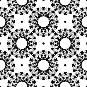 Weißes taufrisches nahtloses muster mit vintage-ornamenten. hintergrund in einer vintage-stil-vorlage. indisches blumenelement. grafisches ornament für stoff, verpackung, verpackung.