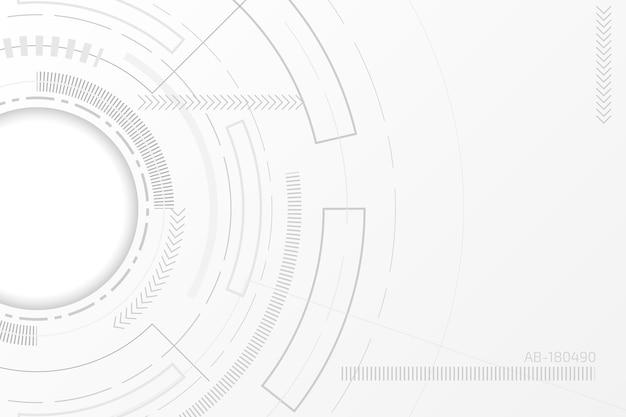 Weißes technologie-hintergrundkonzept
