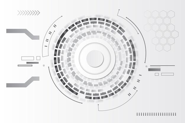 Weißes technologie-hintergrundthema
