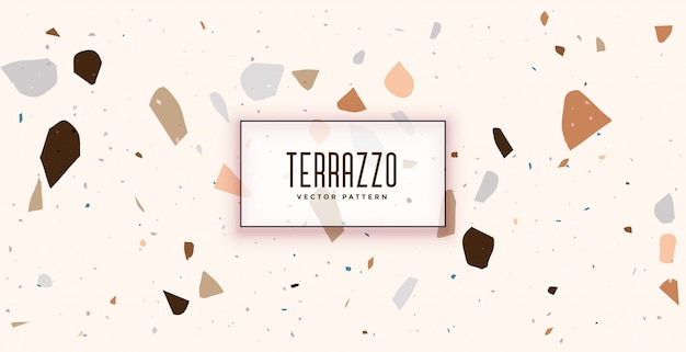 Weißes terrazzo-formmuster-texturhintergrunddesign