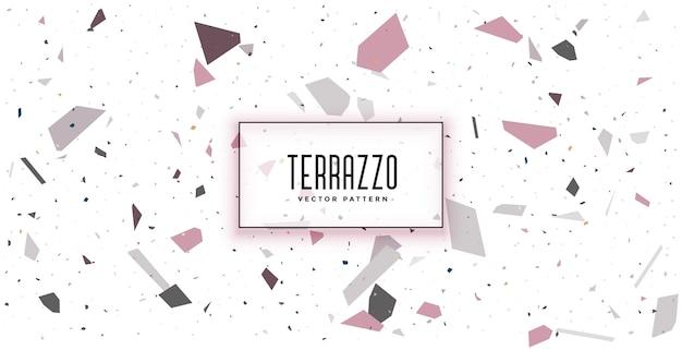 Weißes terrazzobodenfliesenmuster-texturhintergrunddesign