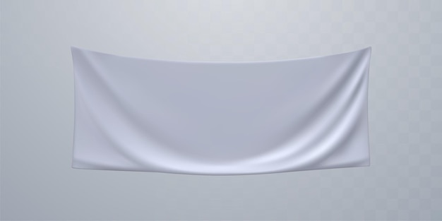 Weißes textilwerbebanner-modell