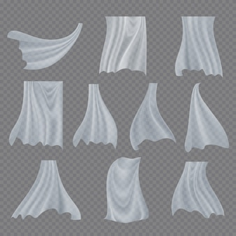 Weißes tuch set