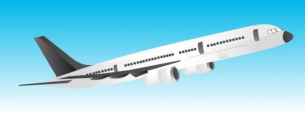 Weißes und schwarzes flugzeug