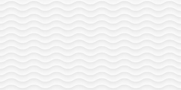 Weißes wellenmuster, gekrümmte linien. papierschnitt abstrakte textur.