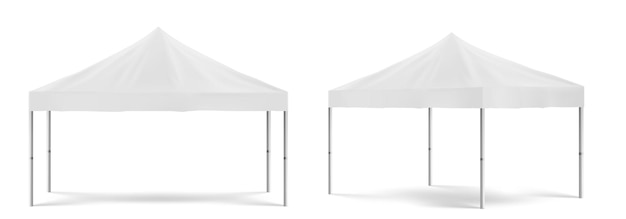 Weißes zusammenklappbares werbezelt, mobiles festzelt im freien für marketingausstellung oder handel vor