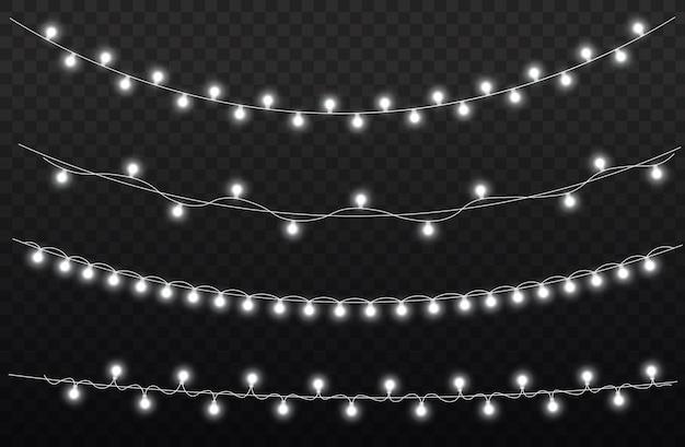 Weißlichtgirlande führte neonlichter weihnachtsdekorationen