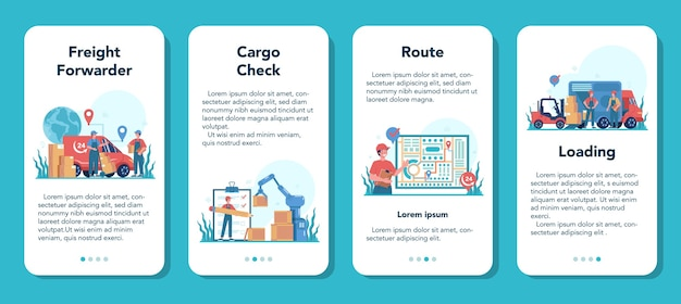 Weiterleitungsbanner für mobile anwendungen. lader in einheitlicher lieferung
