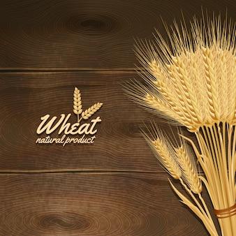 Weizen auf holztisch