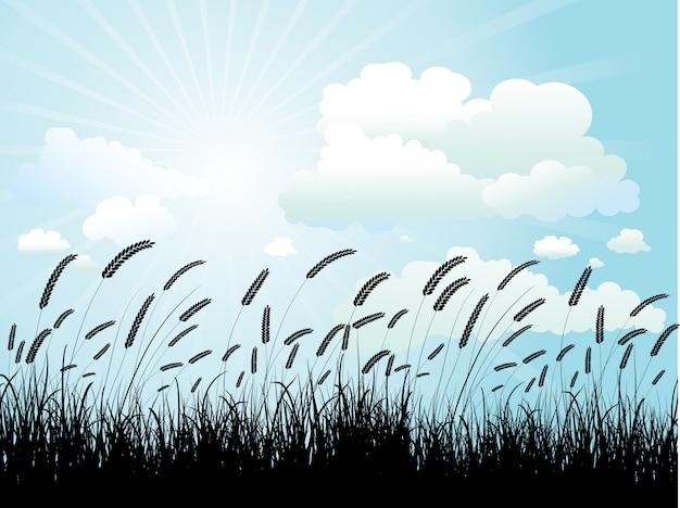 Weizen silhouette