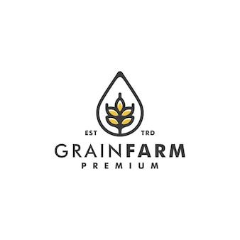 Weizenkornfarm-logo-design-vektor-logo