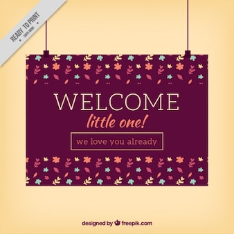 Welcome card design