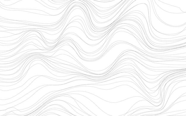 Welle masert weißen hintergrundvektor