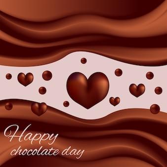 Wellen des schokoladenschokoladenwelttages