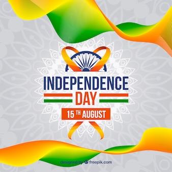Wellen hintergrund von indien unabhängigkeit tag