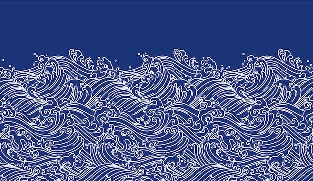 Wellen nahtlose tapete