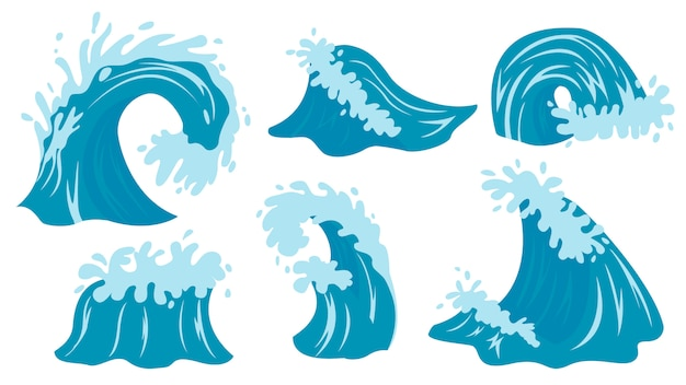 Wellen. ozeanwellenillustration