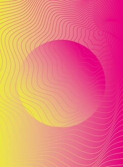 Wellen und formen rosa farbe hintergrund