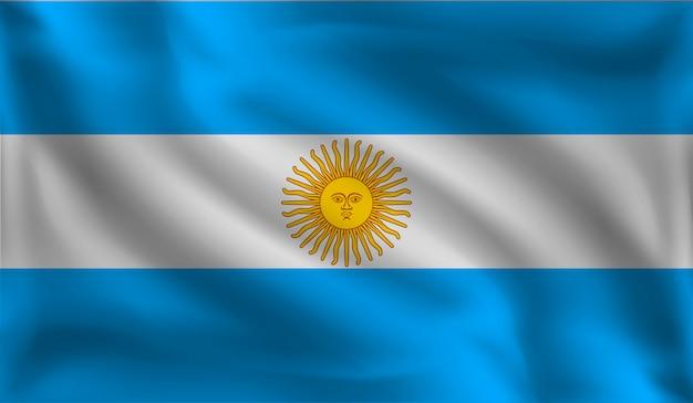 Wellenartig bewegende argentinien-flagge, die flagge von argentinien