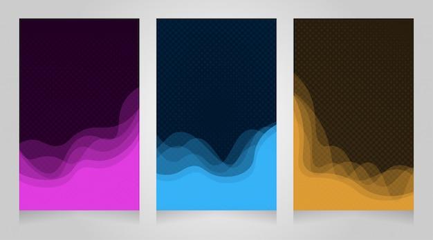 Wellenelement und halbton-design