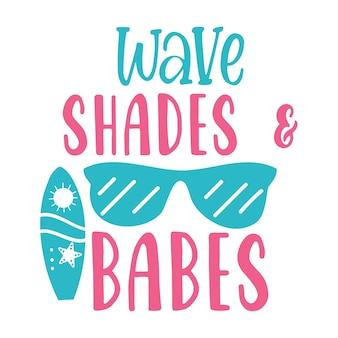 Wellenfarben und babes