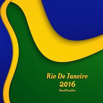 Wellenförmige brasilien farbe hintergrund