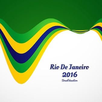 Wellenförmige brasilien farben hintergrund