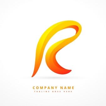 Wellenförmige brief logo