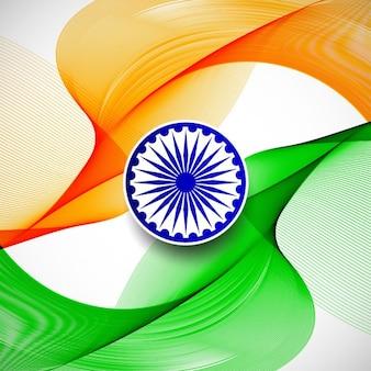 Wellenförmige elegante indische flagge thema hintergrund