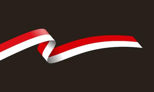 Wellenförmige flagge von indonesien.