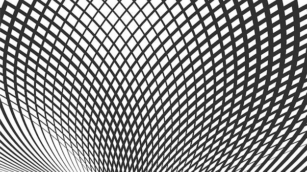 Wellenförmige fließende linien abstraktes muster. wellenraster von linien.