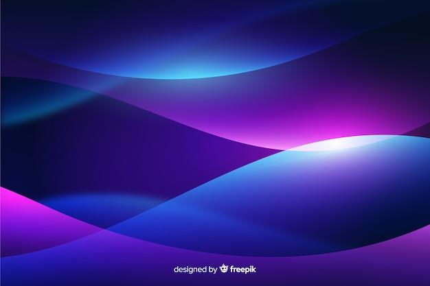 Wellenförmige formen abstrakten hintergrund mit farbverlauf
