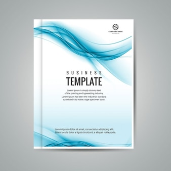 Wellenförmige geschäft broschüre