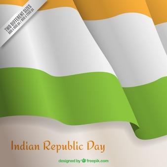 Wellenförmige indischen tag der republik flagge hintergrund