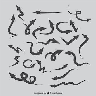 Wellenförmige pfeile