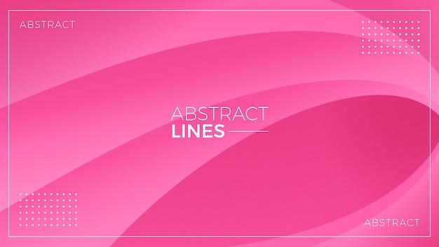 Wellenförmige rosa zusammenfassung zeichnet hintergrund