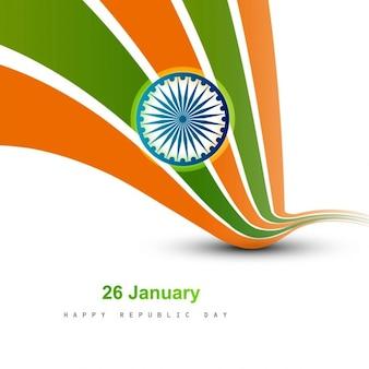 Wellenförmige schöne indische flagge design