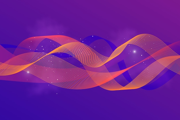 Wellenförmiger farbverlauf beleuchtet hintergrund