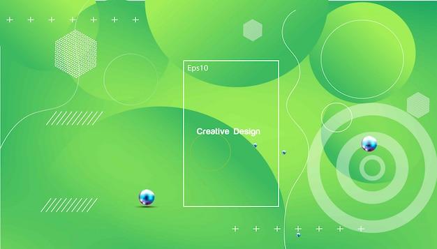Wellenförmiger geometrischer hintergrund. trendige farbverlaufsformen zusammensetzung