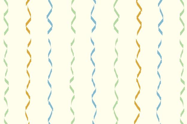 Wellenförmiger gezeichneter musterhintergrund, bunter gekritzelvektor, ästhetisches design