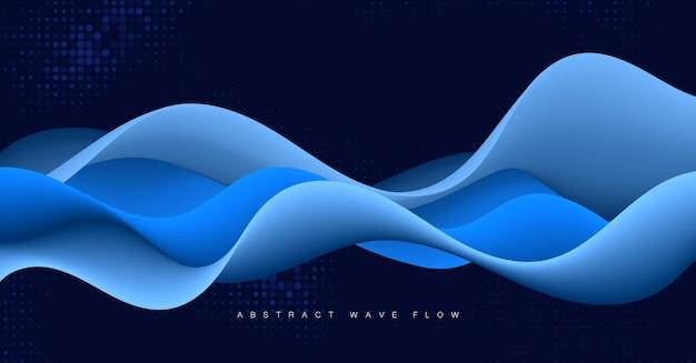 Wellenförmiger hintergrund des abstrakten vektors mit modernen steigungsfarben. modisches flüssiges design. illustration für banner, flyer und präsentationen.