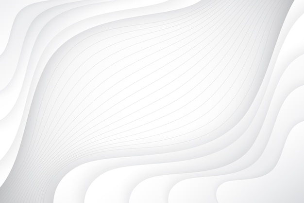 Wellenförmiger hintergrund im papierstil