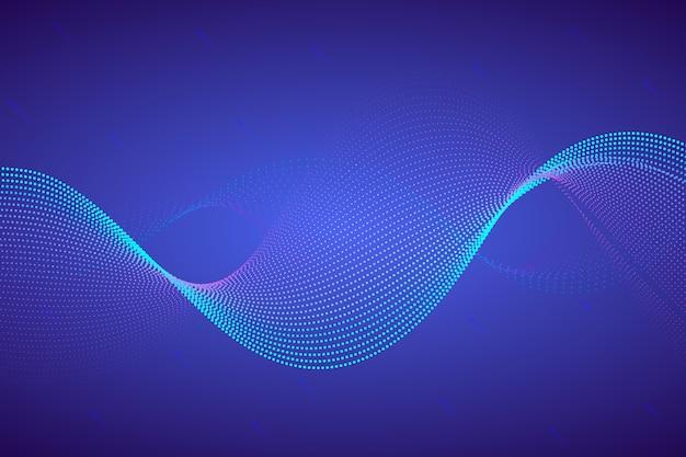 Wellenförmiger hintergrund mit punkten